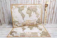 Скретч карта мира My Map Antique edition (CARIBBEAN) в тубусе