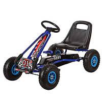 Детская педальная машина веломобиль Карт M 0645-3 синий