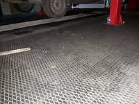 Резиновая плитка для СТО и шиномонтажа