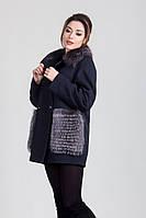 Пальто молодежное женское зимнее с натуральным мехом Sergio Cotti 1-063