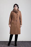 Пальто женское зима с натуральным мехом Sergio Cotti 1-078L