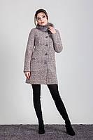 Пальто молодежное женское зима с натуральным мехом Sergio Cotti 1-076