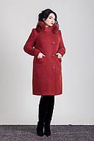 Пальто зимнее с мехом песец Sergio Cotti Пальто 1-092IT