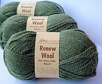 Шерсть Renew Wool хаки