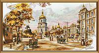 Набор для вышивания нитками на канве с фоновым рисунком Старый Киев СР 2195