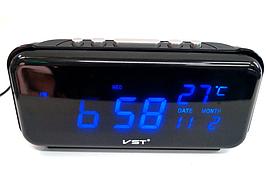 Часы  электронные сетевые VST-806W-5 (синяя подсветка)    .dr