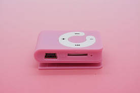MP3 плеер Клипса + Наушники +USB переходник pink (розовый)