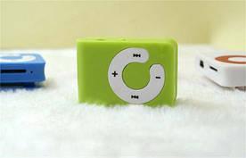 MP3 плеер Клипса + Наушники +USB переходник green (зеленый)