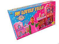 Дом для Барби 6984 My Lovely Villa, 2 этажа, 3 комнаты, терраса, мебель, 79х72х24 см, от 3-х лет