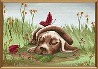 Набор для вышивания нитками на канве с фоновым рисунком Сладкий сон СВ 5561