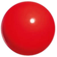 Мяч для гимнастики Chacott 65007-Practice 170мм/330г резина Red