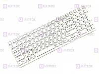 Оригинальная клавиатура для ноутбука Sony Vaio SVE1511S9R/B, SVE1511S9 series, rus, white