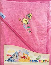 Полотенце с капюшоном Tega TG-071 pink