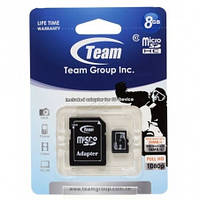 Micro SDHC 8Gb Team (Class 10, adapter) (TUSDH8GCL1003)