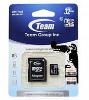 Micro SDHC 32Gb Team (Class 10, adapter) (TUSDH32GCL1003)