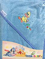Полотенце с капюшоном TG-071 80/80 голубое
