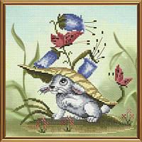 Набор для вышивания нитками на канве с фоновым рисунком Сыграем в прятки СВ 5563