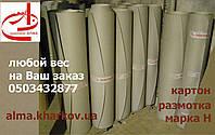 Картон хром-эрзац, размотка, упаковочный, рулонный материал