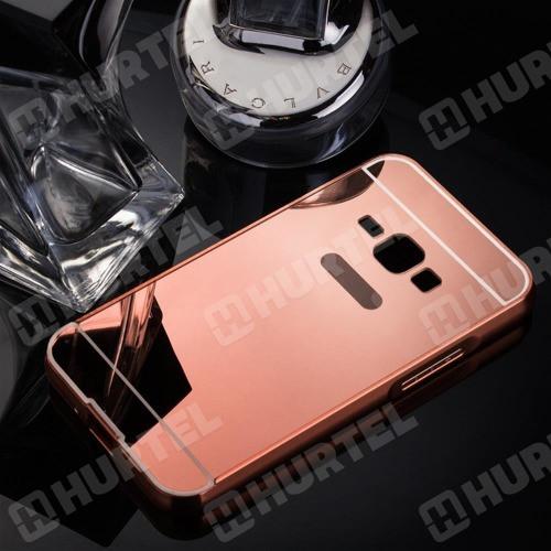 Чехол для Galaxy J1 2016 / Samsung J120 зеркальный розовый