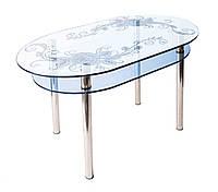 Стол стеклянный КС-6 (пескоструй)  Антоник