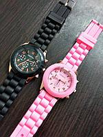Женские силиконовые часы Geneva, фото 1