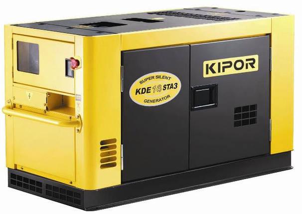 Дизельный генератор Kipor KDЕ16STA3 с автоматическим запуском и отключением, фото 2