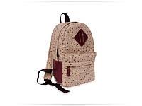 Міський тканинний рюкзак (MINI) із шкіряними вставками