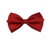 Краватка-метелик червона для хлопчиків, фото 1