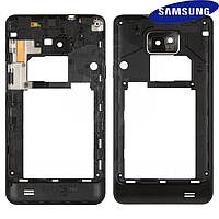 Средняя часть корпуса для Samsung Galaxy S2 i9100, черная, оригинал