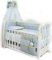 Twins Детский постельный комплект Twins Premium P-006 Glamur (grey/yellow)