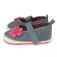 """Летние пинетки """"Цветочек"""" для новорожденной девочки из хлопка Berni"""