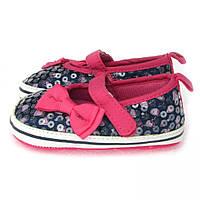 Нарядные пинетки с пайетками для девочки (обувь для самых маленьких) Berni