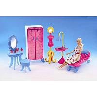 Набор кукольной мебели «Gloria» 2909: шкаф, стул, трюмо, манекен, софа, светильник, 31х31х10 см