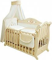 Twins Детский постельный комплект Twins Romantik R-002 Сердечки, 8 эл. (ecru)