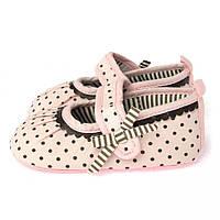 Пинетки летние хлопковые для новорожденной девочки Berni Розовый