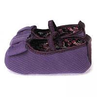 Повседневные пинетки для новорожденной девочки (обувь на первый шаг) Berni Фиолетовые
