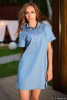 Рубашка туника джинсовая , размера 42-44, 46-48, 50-52.