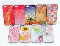 Fashion classic flora case с камнями for iPhone 5 5S