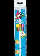 """Карандаши цветные двусторонние акварельные """"MARCO"""" Grip-Rite (12 шт/24 цвета) 9121-12CB"""
