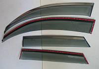 Audi Q3 ветровики дефлекторы окон ASP с молдингом нержавеющей стали / sunvisors