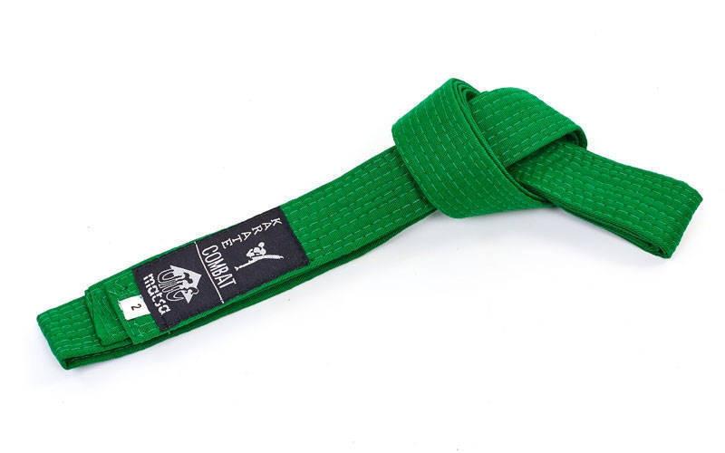 Пояс для кимоно MATSA зеленый MA-0040-G(4) хлопок, р.4, 270см)