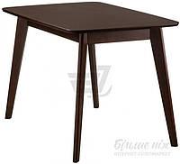 Обеденный деревянный стильный стол темный 120 см