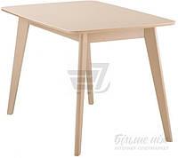 Обеденный деревянный стильный стол бежевый 120 см