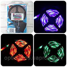 Комплект: светодиодная лента RGB, 3528, 5м,  с контроллером RGB и блоком питания