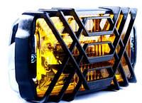 Фара дополнительная, D166, H3, 12V, 55W, желтая, решетка пластик (пр-во LAVITA)