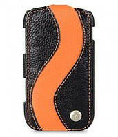 Melkco Jacka special leather case for Samsung S6500 Galaxy Mini 2, black/orange (SSGM65LCJS1BKOELC)