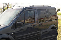 """Рейлинги Ford Courier 2014+  - Crown (тип skyport), сплошный алюминий, цвет """"Серый мат"""""""