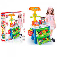 Функциональная касса: игрушка для детей 1282, звук, сканер, прилавок с продуктами, весы, корзинка, 3+