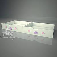 """Ящики подкроватные """"Золушка pink"""""""