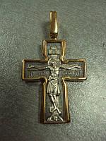 """Крестик мужской серебро 925"""" позолота 9,35 г"""